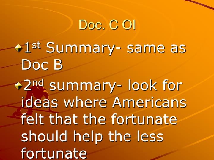 Doc. C OI