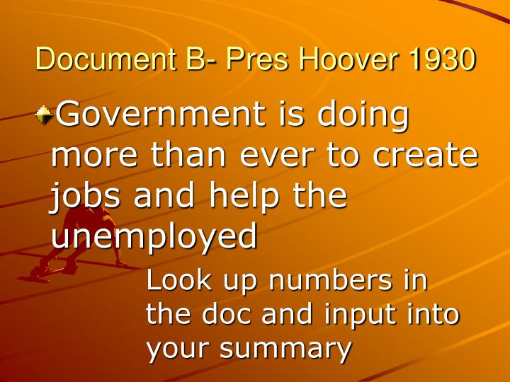 Document B- Pres Hoover 1930
