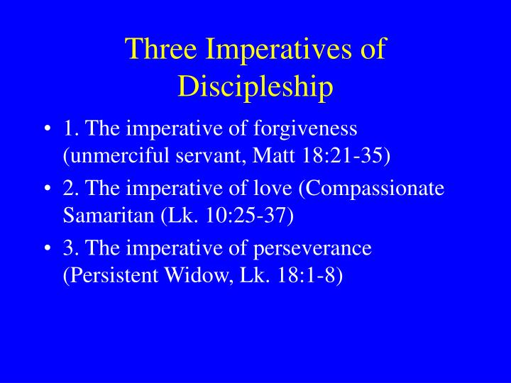 Three Imperatives of Discipleship