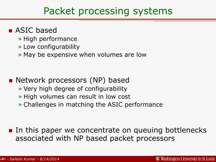 Packet processing systems