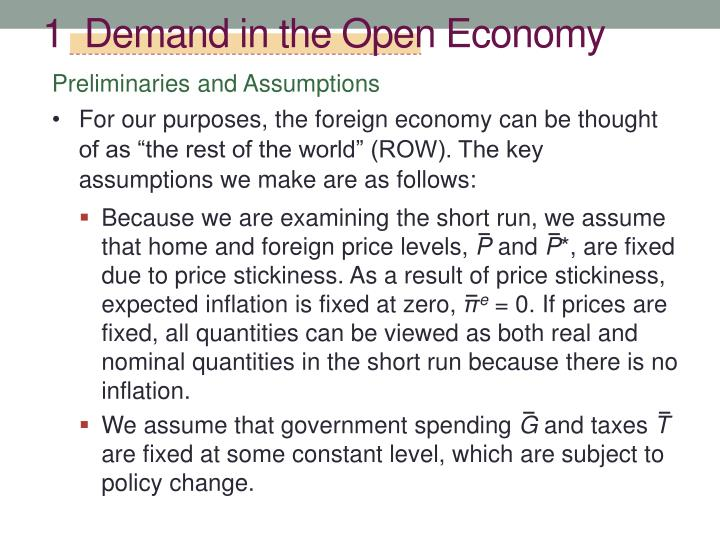 1  Demand in the Open Economy