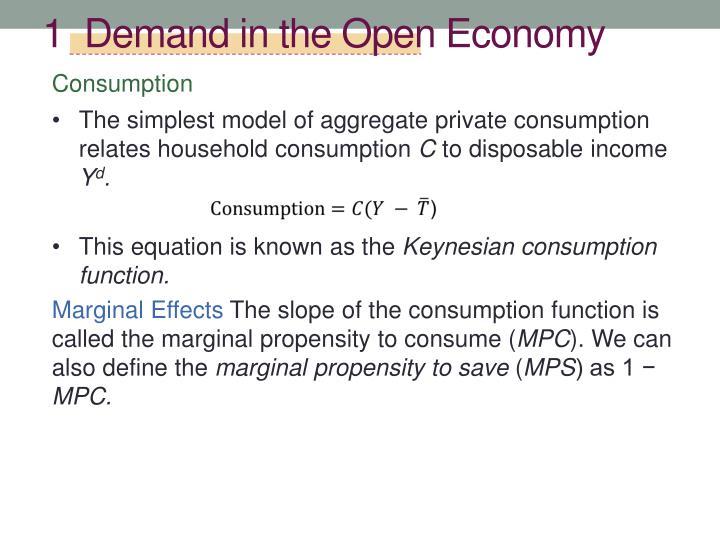 1  Demand in the Open Economy