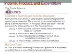 income product and expenditure