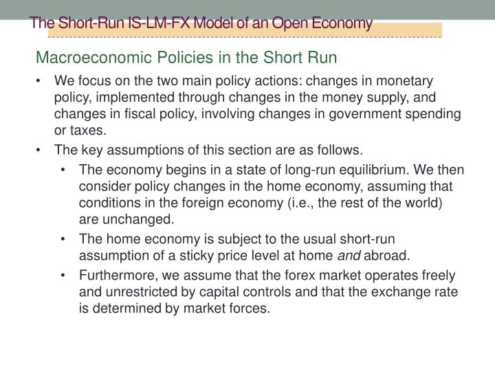 The Short-Run IS-LM-FX Model of an Open Economy