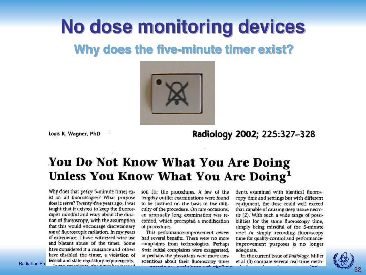 No dose monitoring devices