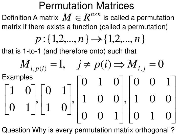 Permutation Matrices