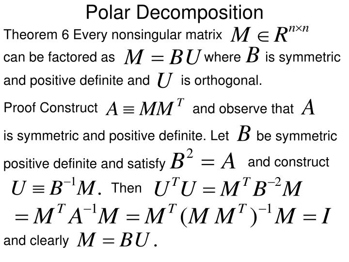 Polar Decomposition