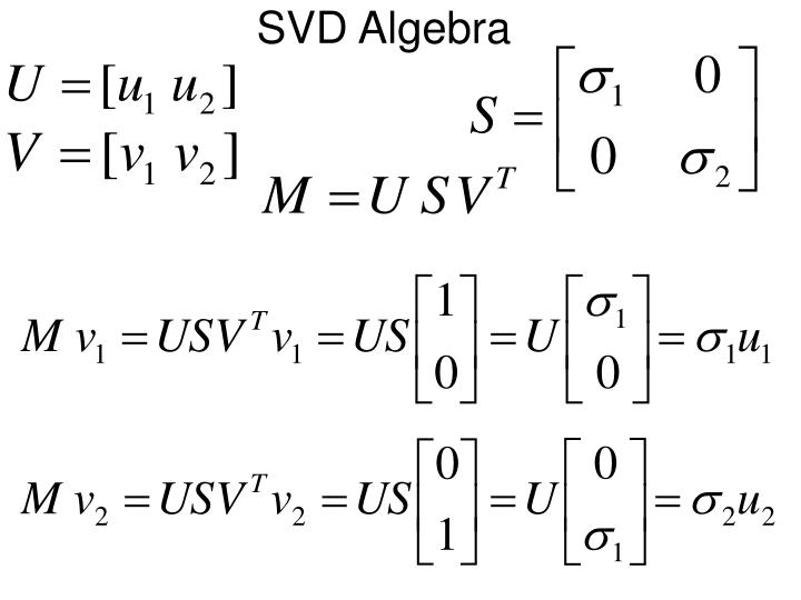 SVD Algebra