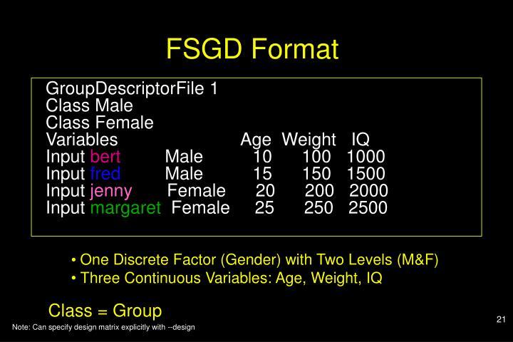 FSGD Format