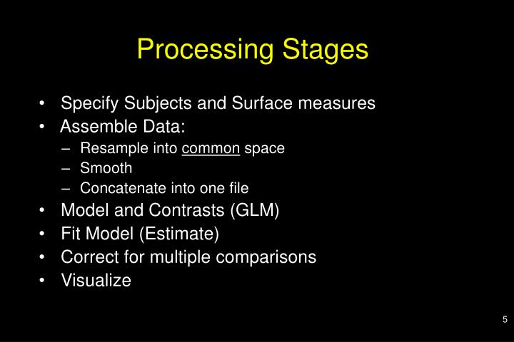 Processing Stages