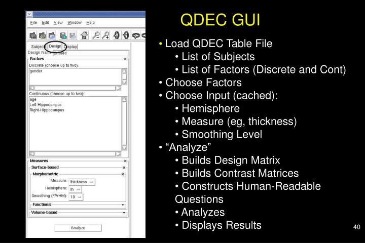 QDEC GUI