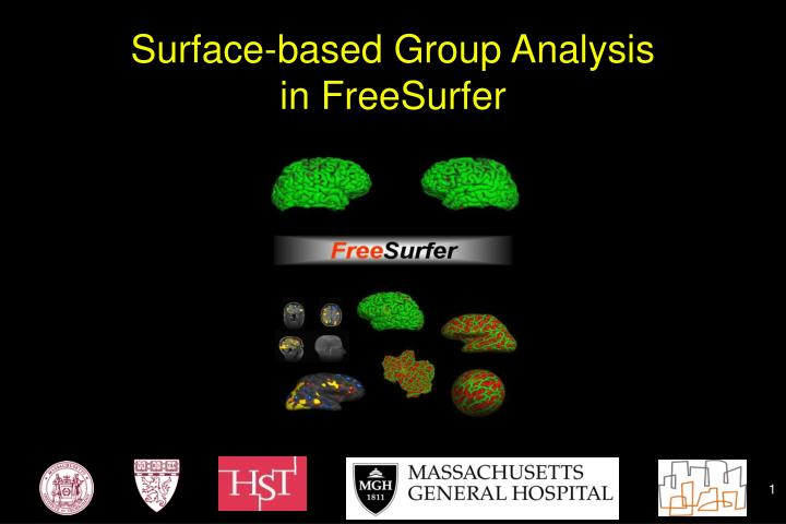 Surface based group analysis in freesurfer
