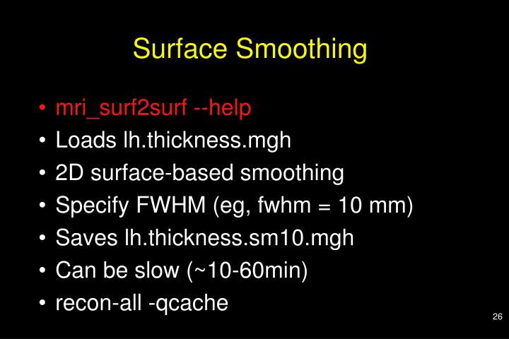 Surface Smoothing