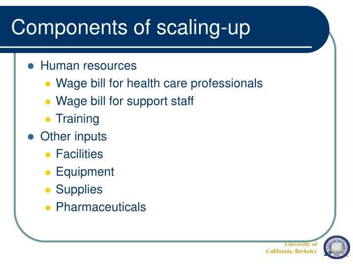 Components of scaling-up