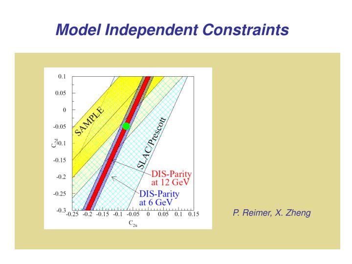 Model Independent Constraints