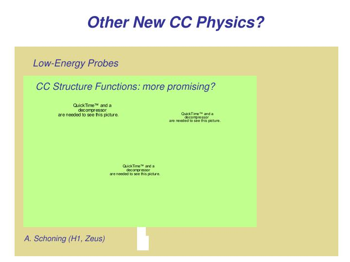 CC Structure Functions: more promising?