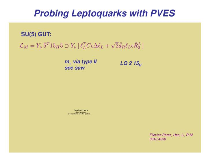 Probing Leptoquarks with PVES