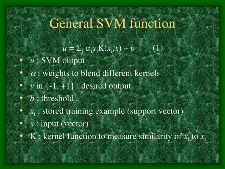 General SVM function
