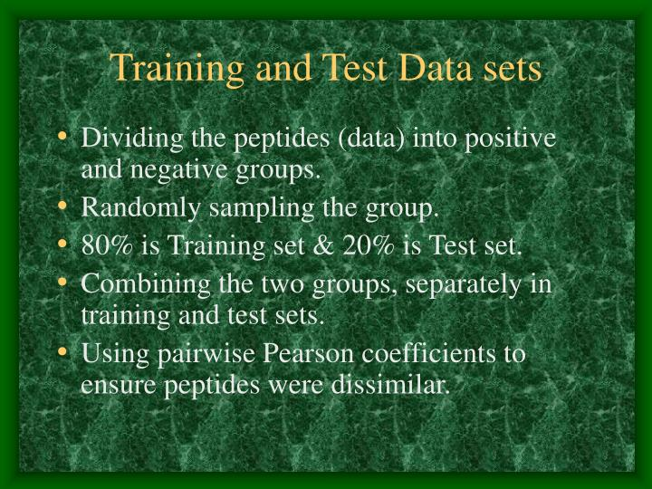 Training and Test Data sets