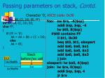 passing parameters on stack contd