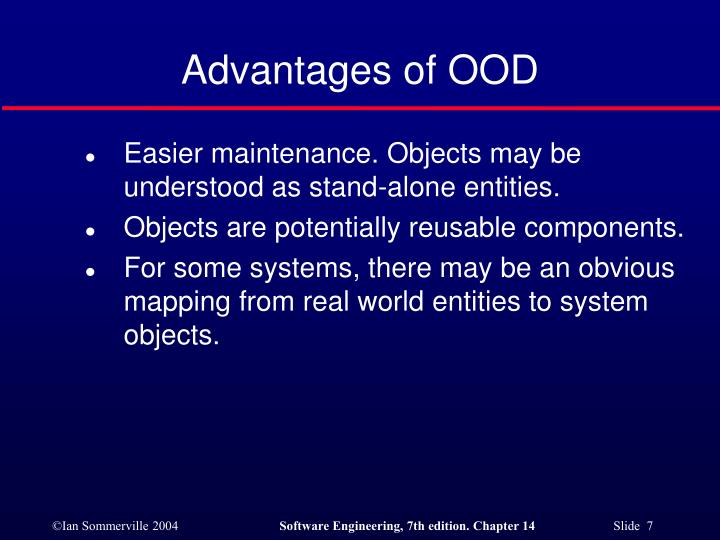 Advantages of OOD