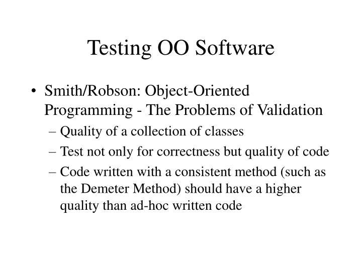 Testing OO Software