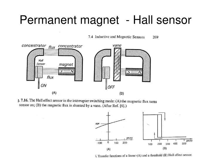 Permanent magnet  - Hall sensor