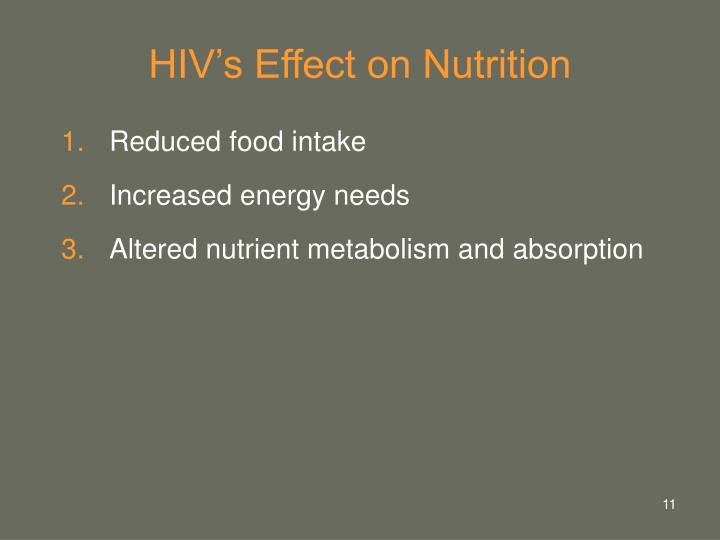 HIV's Effect on Nutrition