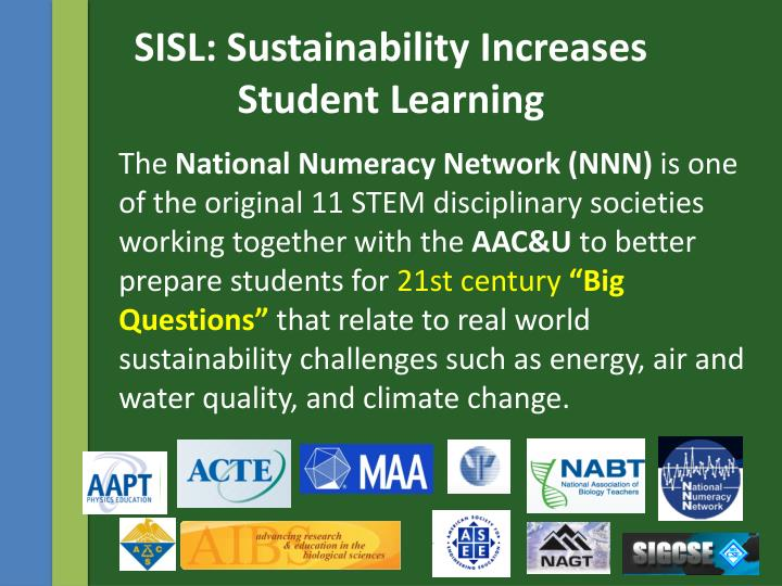 SISL: Sustainability Increases
