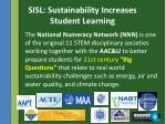sisl sustainability increases student learning