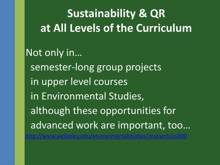Sustainability & QR