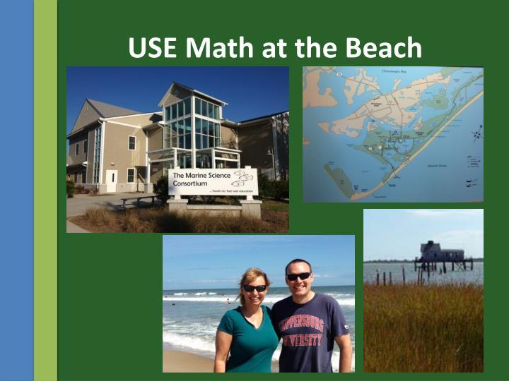 USE Math at the Beach