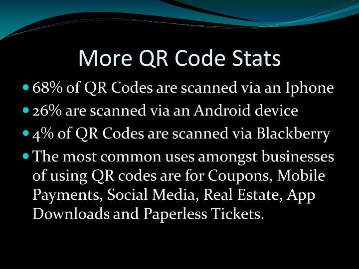 More QR Code Stats
