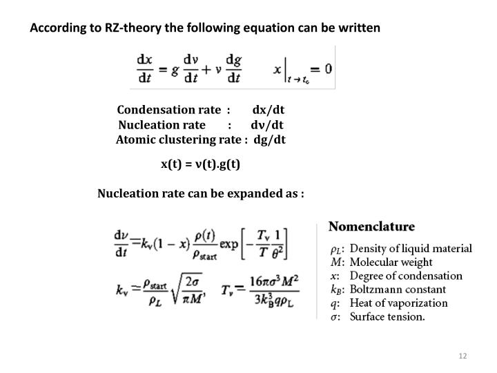 According to RZ-theory the following equation can be written