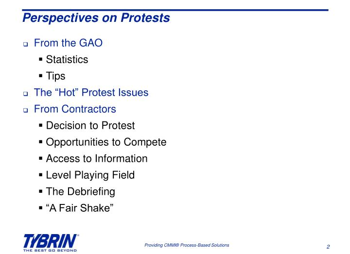Perspectives on protests
