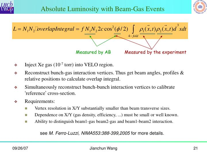 Absolute Luminosity with Beam-Gas Events