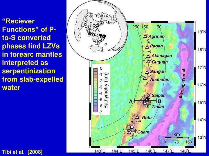 """Reciever Functions"" of P-to-S converted phases find LZVs in forearc mantles interpreted as serpentinization from slab-expelled water"