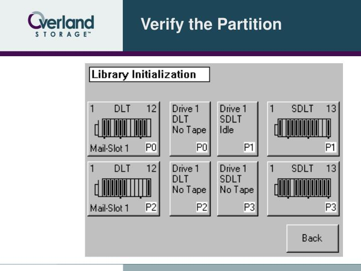 Verify the Partition