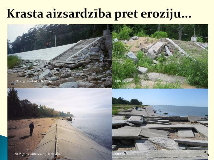 Krasta aizsardzība pret eroziju...