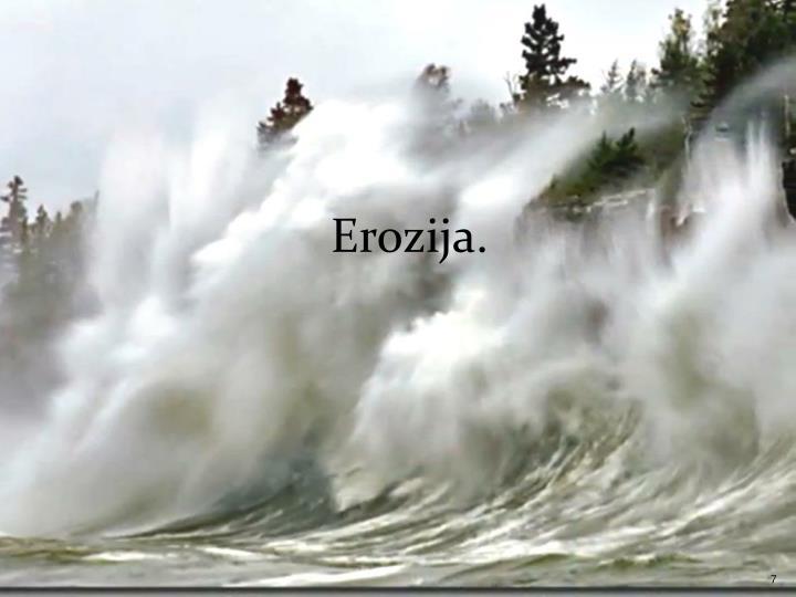Erozija.