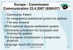 europe commission communication 23 4 2007 8566 07