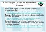 the challenge of disease and access in poor countries