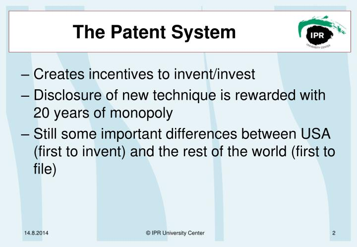 The patent system