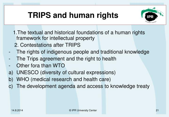 TRIPS and human rights