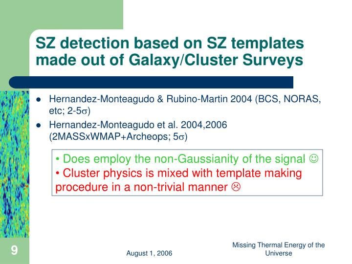 SZ detection based on SZ templates made out of Galaxy/Cluster Surveys