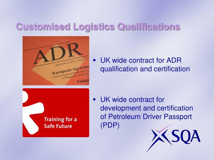Customised Logistics Qualifications