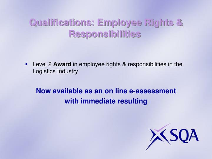 Qualifications: Employee Rights & Responsibilities