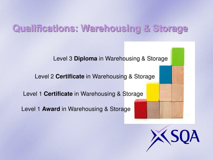 Qualifications: Warehousing & Storage