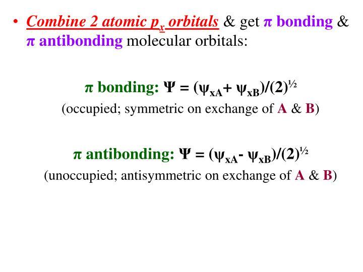 Combine 2 atomic p