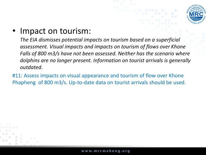 Impact on tourism: